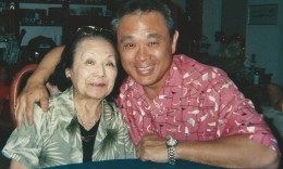 Gerald Ishibashi with his mother Haru, circa 2006.