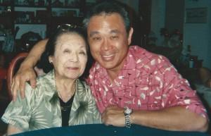 Gerald Ishibashi with his mother Haru, circa 2006.