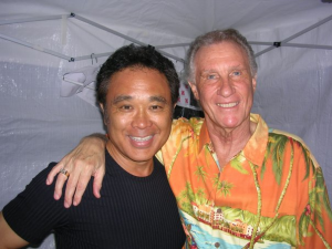 Gerald Ishibashi with Bill Medley of the Righteous Brothers.