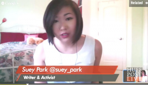 "Suey Park on ""HuffPost Live."""
