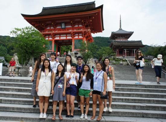 TYAFP participants visit Kiyomizu Temple in Kyoto.