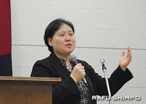 参加者からの質問に答える大谷弁護士