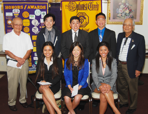 Front row (from left): Felice Gonzales, Sabrina Sy & Angelica Lujan; back row (from left): John Nosse (chairman), Francis Lin, Ian Ordonez, Ronald Tran and Mich Sakado (president).