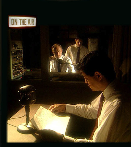 Dramatization of a U.S. propaganda broadcast to Japan.