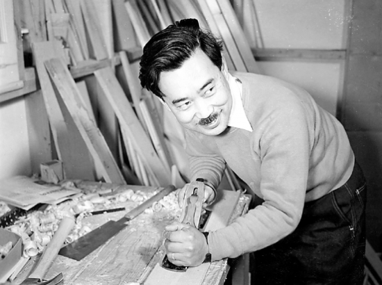 George Nakashima (1905-1990) is considered one of the more important furniture craftsmen of the postwar period.