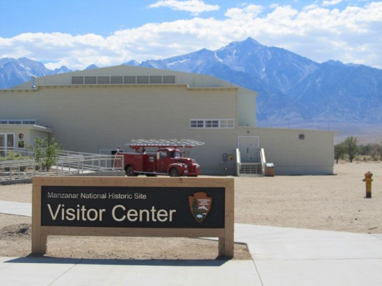 A new welcome sign at Manzanar National Historic Site's Visitor Center in June 2013. (National Park Service)