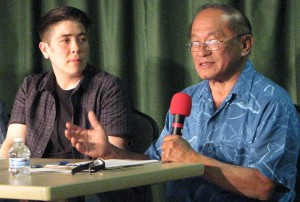 Panelists riKu Matsuda and Harold Kameya.