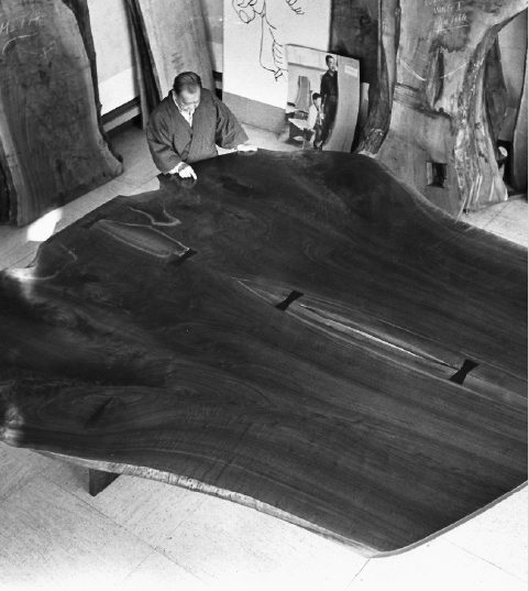 The Peace Altar or Table was one of George Nakashima's major projects toward the end of his life, and is being carried on by his family.