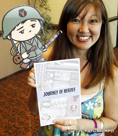 stacey t. hayashi with book