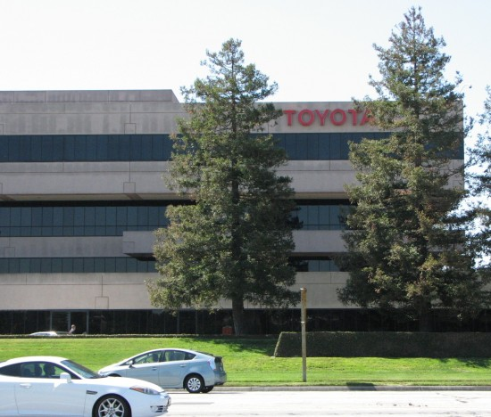 A view of Toyota Motors USA's headquarters from 190th Street. (J.K. YAMAMOTO/Rafu Shimpo)