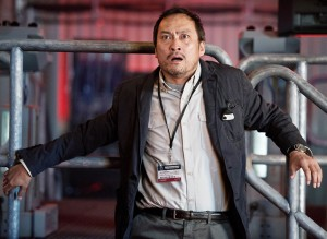 Dr. Serizawa (Ken Watanabe) knows what's coming, but is still awestruck ... along with the rest of us. (Warner Bros. Pictures)