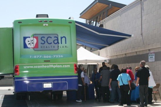 Nearly 150 attendees received a free stroke screening inside the SCAN Van.