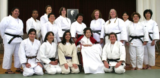"Judo pioneer Keiko Fukuda, pictured with her students, is the subject of ""Mrs. Judo."" (Flying Carp Productions)"