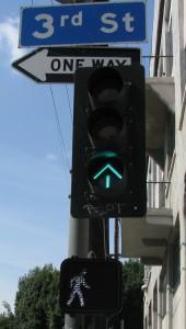 """""""Walking man"""" means it's okay to cross."""