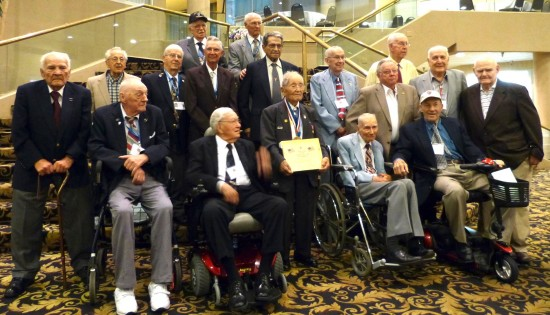 Roy Matsumoto (front, center) at his final Merrill's Marauders reunion in 2012.