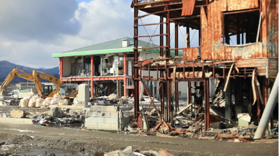 "Devastation caused by the March 2011 tsunami is shown in ""Stories from Tohoku."" (Bridge Media)"