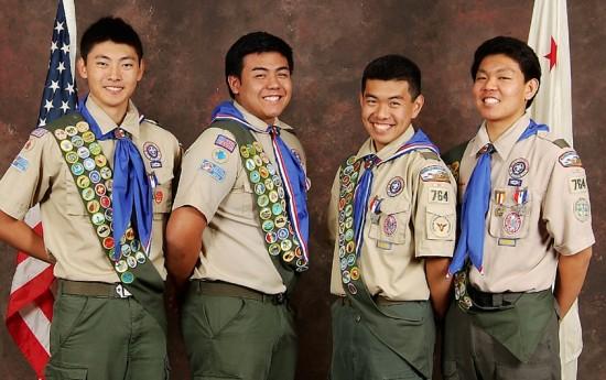 From left: Troy Kaneshiro, Tyler Muronaka, James Morimoto and Brett Morimoto.