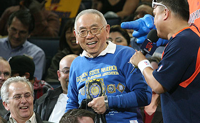 On March 11, 2010, Bill Hirose was named the Golden State Warriors' Season Ticket Holder of the Game. A season ticket holder since 1975, he said his favorite Warriors player was Nate Thurmond and his favorite Warriors moment was beating the Bulls at home to advance to the 1975 NBA finals. (NBA photo)