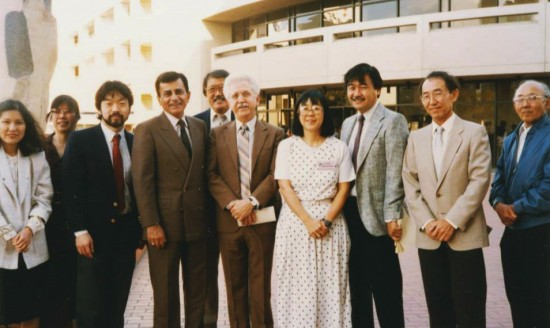 "Casey Kasem and Don Bustany (co-creators of ""American Top 40"") at the 1991 Day of Remembrance with members of NCRR."