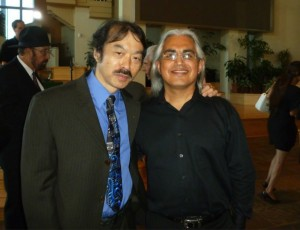 Guy Aoki and Gonzalo Venecia at the June 21 memorial.