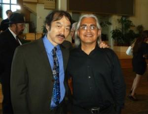 Guy Aoki and Gonzalo Venecia at the June 21 memorial.