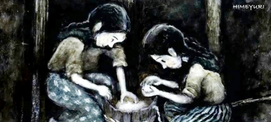 """A painting of Okinawan high school students by Ken Kaizu is featured in the short film """"Himeyuri."""""""