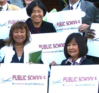 Karen Sakata (right) was elected