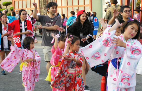 Ondo dancing at the Long Beach Japanese Community Center.