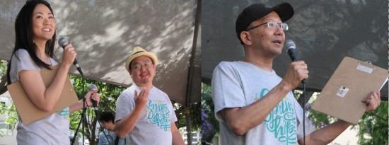 Left: Jully Lee and Aaron Takahashi. Right: Shin Ito.