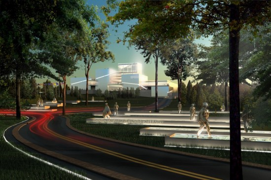 Architectural rendering of the National Museum of the U.S. Army. (Army Museum Foundation)