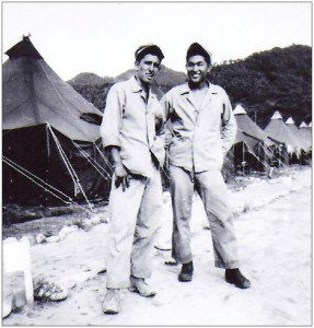 "Robert Wada and his childhood friend Robert ""Bat"" Madrid, who was killed in Korea on Sept. 20, 1951."