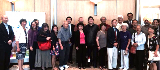 Members of the Japanese American community who attended the Sacramento City Council meeting. Assemblywoman Mariko Yamada is second from left.