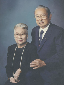 Dr. Sakaguchi and his wife,