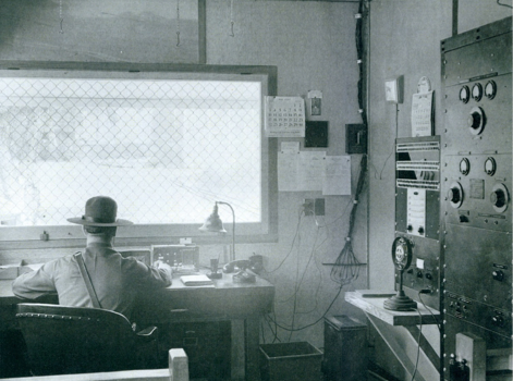 Guards' office at the Tuna Canyon Detention Station. (Photo courtesy of David Merrill)