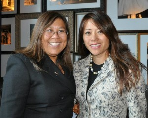 Board of Equalization member Betty Yee with former Assemblymember Fiona Ma, who is running for Yee's seat. Yee is termed out and running for controller.