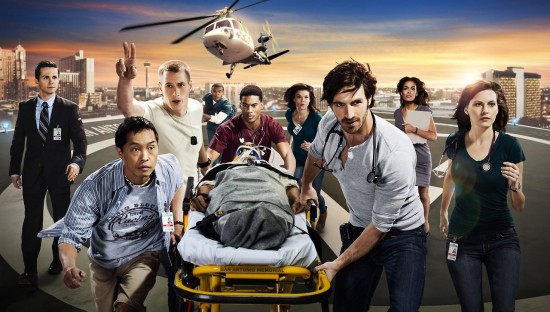 "The cast of NBC's ""Night Shift."""