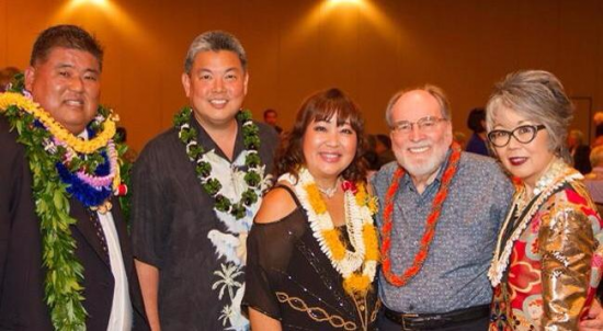 From left: Gov. Neil Abercrombie, JCCH Executive Director Carole Hayashino.