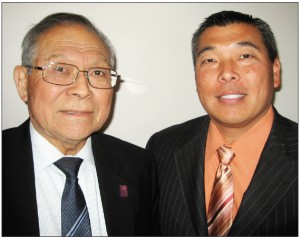 Brian Moriguchi with his father, Bob.