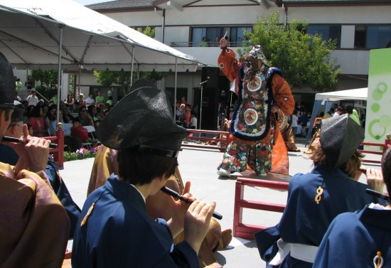 "The bugaku piece ""Nasori"" was performed by the Tenri Gagaku Music Society of Los Angeles and New York."