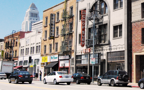 """Far East Lounge is located under the """"Chop Suey"""" sign on First Street in Little Tokyo."""