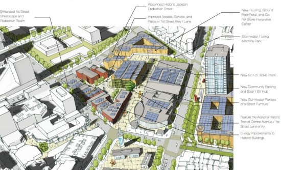 """""""First Street North Vision"""" developed by the Little Tokyo community."""