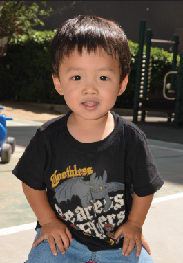 Jonas Hanami, 2 years old, on the Grace Iino playground. (Photo by  Sharon Escamilla)