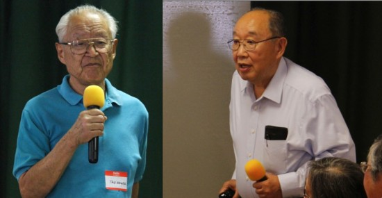 Left: Tadashi Kowta, a former resident of Historic Wintersburg. Right: Kanji Sahara of PSW JACL, who gave a talk on the Alien Land Law.