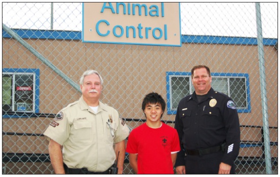 For his Eagle Scout project, Kyle Nishimura renovated the Torrance Animal Control Center at Wilson Park in Torrance.