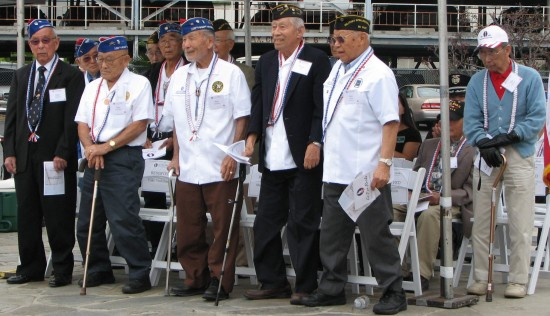 Nisei veterans were asked to stand and be recognized.