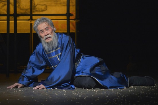 "Sab Shimono in La Jolla Playhouse's production of ""The Orphan of Zhao."" (Photo by Kevin Berne/American Conservatory Theater)"