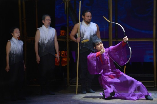 "Daisuke Tsuji (far right) and members of the cast of La Jolla Playhouse's production of ""The Orphan of Zhao."" (Photo by Kevin Berne/American Conservatory Theater)"