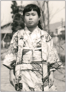 Sadako Saasaki suffered from leukemia brought on by radiation poisoning. She died six months after this 1955 photo was taken. (Photo courtesy of Sadako Legacy)