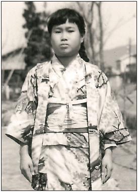 Sadako Saasaki suffered from leukemia brought on by radiation poisoning. She died six months after this 1955 photo was taken. (Photo courtesy of Sadako Legacy)