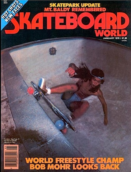Shogo Kubo on the cover of Skateboard World in January 1978.